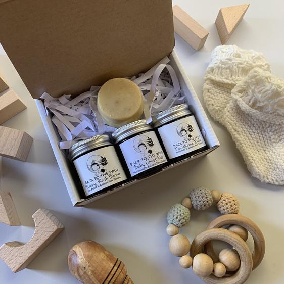 Organic natural baby gift set box gender neutral baby shower idea nz