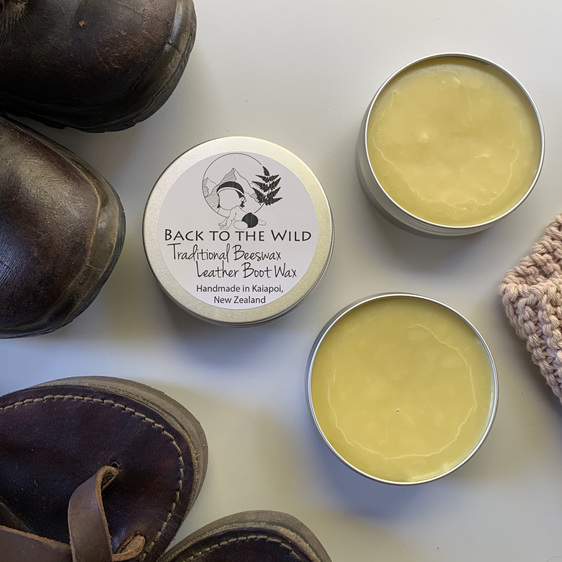 Organic natural beeswax leather boot wax shoe polish tramping nz