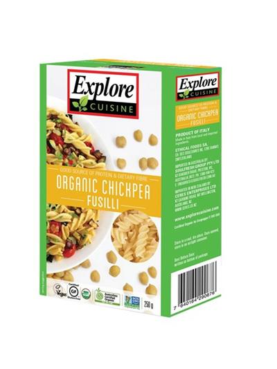 Organic Pasta Fusilli Chickpea Fusilli (GF) - 250g
