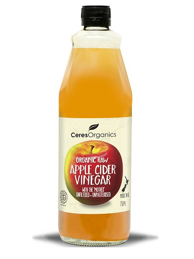 Organic RAW Apple Cider Vinegar - 750ml(with Mother)