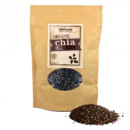 Organic Raw Black Chia Seeds - 500g