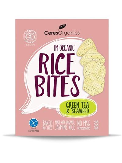 Organic Rice Bites(Green Tea  Seaweed) - 100g