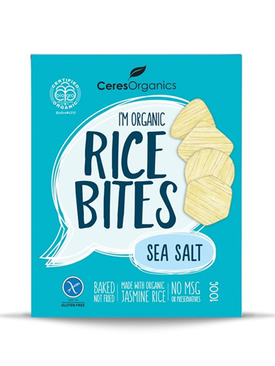 Organic Rice Bites(Sea Salt) - 100g