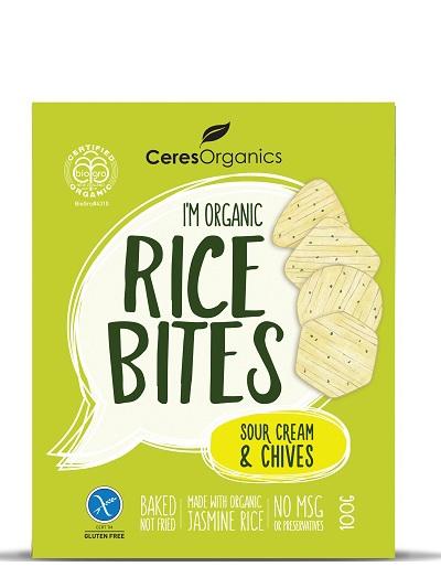 Organic Rice Bites (Sour Cream & Chives) - 100g