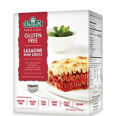 Orgran Lasagne Mini Sheets (Gluten Free) 200g