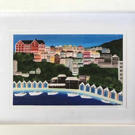 Oriental Bay Boatsheds - small frame
