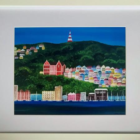 Oriental Bay Print in Frame