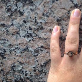 original design granite engagement ring