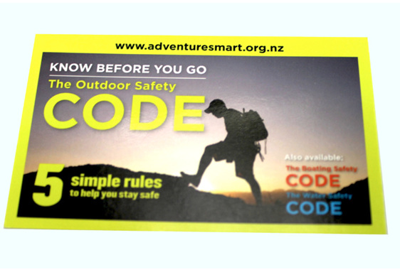OSCBIZC - Outdoor Safety Code Info Cards