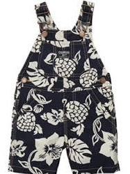 OshKosah Bgosh Navy Hawaiian Dungarees