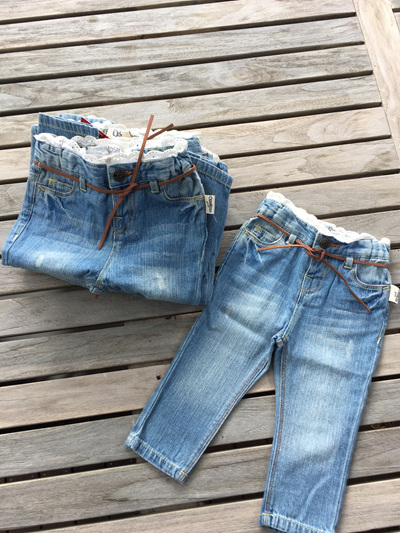OshKosh Jeans with lace trim