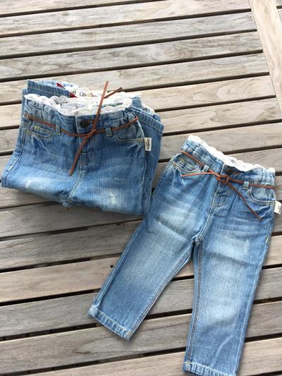 OshKosh Jeans with lace trim