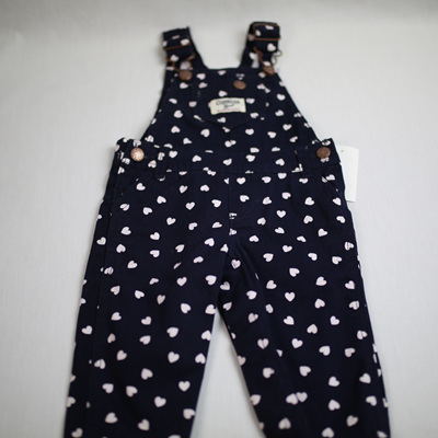 Oshkosh  overalls Navy with white hearts