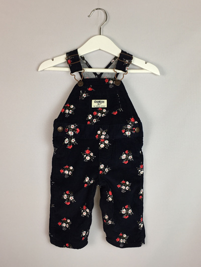 OshKosh winter floral overalls