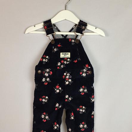 OshKosh winter floral overalls
