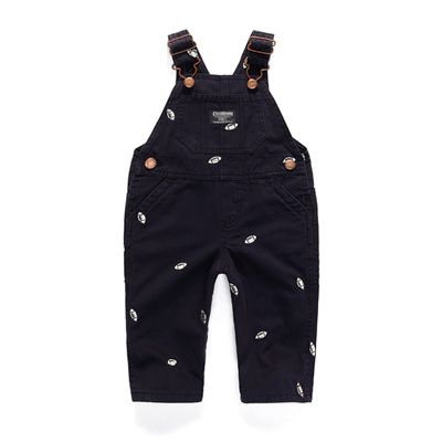Oshkosh winter overalls Navy with ruby balls