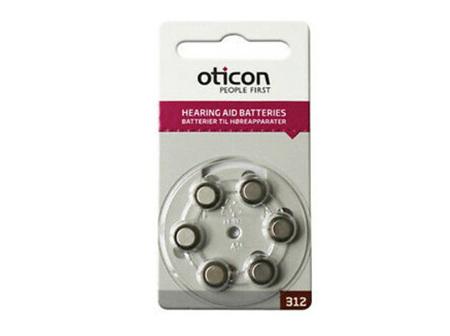Oticon Batt Hear OT312 BP6