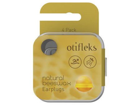 Otifleks Natural Beeswax Earplugs  4Pk