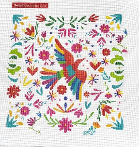 Otomi Bird needlepoint