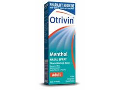 Otrivin Adult Menthol Spray