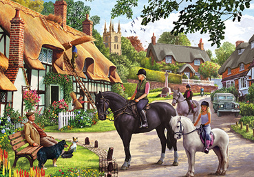 Otter House 1000 Piece Jigsaw Puzzle: Country Life