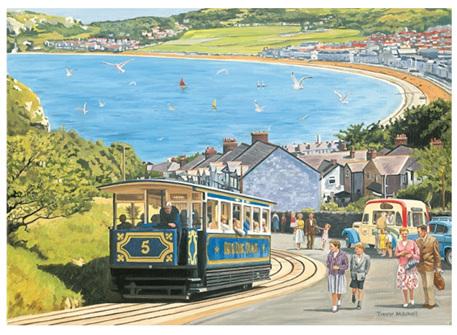 Otter House 1000 Piece Jigsaw Puzzle: Seaside Tram