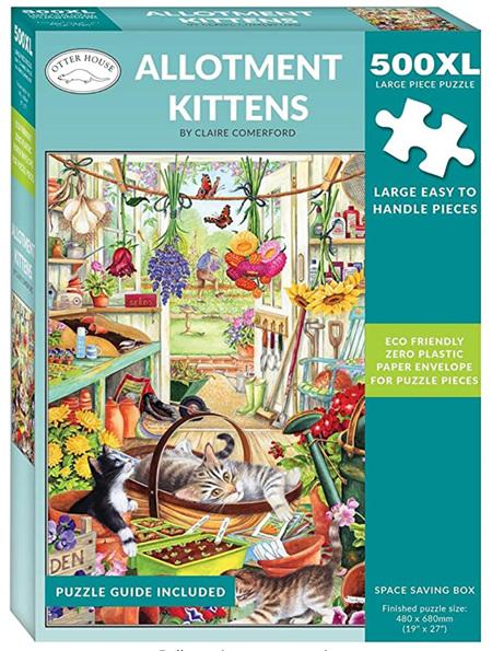 Otter House  500XL Piece Jigsaw Puzzle: Allotment Kittens