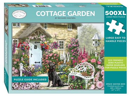 Otter House  500XL Piece Jigsaw Puzzle: Cottage Garden