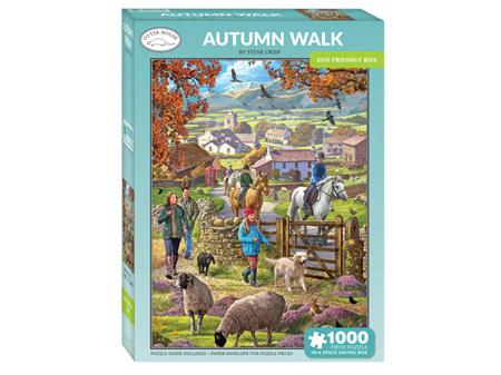 Otter House Autumn Walk 1000 Piece Puzzle
