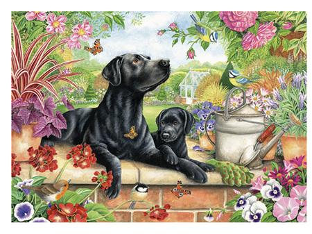 Otter House Black Lab & Pup 1000 Piece Puzzle