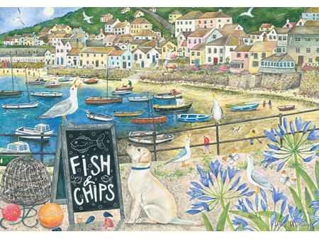 Otter House Fish n Chips 1000 Piece Puzzle