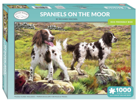 Otter House Spaniels on the Moor 1000 Piece Puzzle