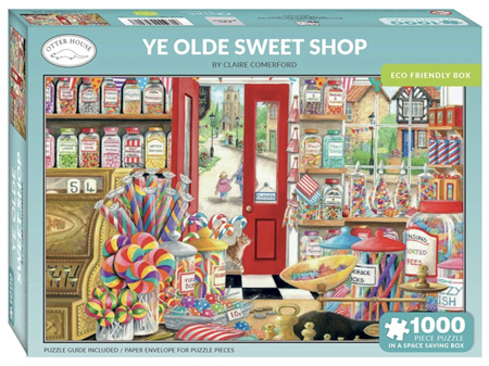 Otter House Ye Olde Sweet Shop 1000 Piece Puzzle