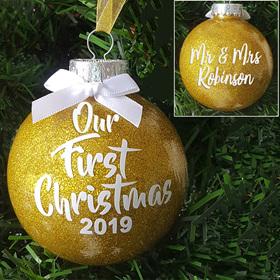 Personalised Wedding Christmas Ornament
