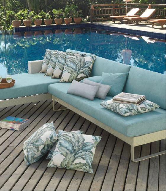 Outdoor Fabrics Santarem and DUna bloomdesigns