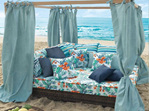 Outdoor Fabrics Sardegna, Bora Bora and DUna bloomdesigns