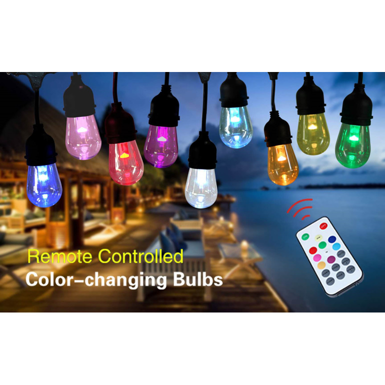 outdoor festoon lights, led festoon lights, commercial graded lights, waterproof