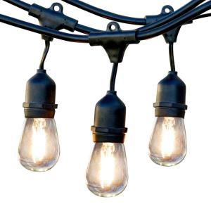 Weatherproof Low Voltage 15m Bulb Exchangeable Festoon Lights - Warm White