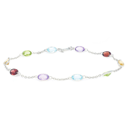 Oval Coloured Gemstone Bracelet