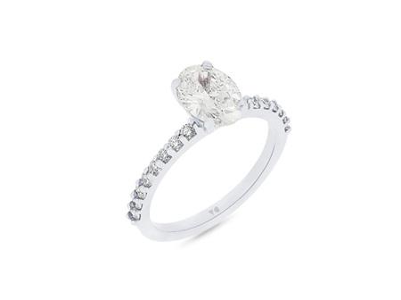Oval Cut Delicate Diamond Band