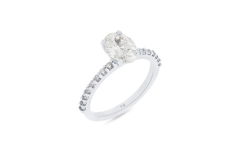 Oval Cut Delicate Diamond Band
