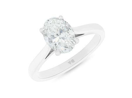 Oval Cut Diamond Solitaire Ring