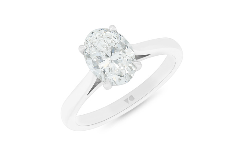 Oval Cut Solitaire, Oval Diamond Ring, Oval Diamond Solitaire