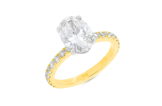 Oval Diamond Solitaire Engagement Ring