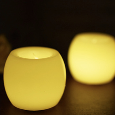Oval Flickering LED Candle Lights - Warm White
