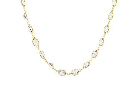 Oval White Topaz Necklace