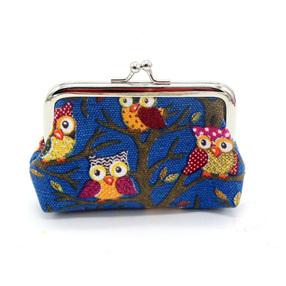 Owl Coin Purse - Dark Blue