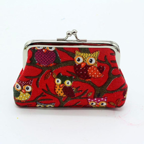 Owl Coin Purse - Red