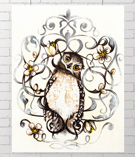 Owl - the original painting