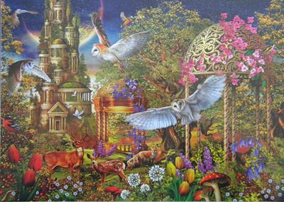 Holdson 1000 Piece Jigsaw Puzzle: Owl Tree Garden
